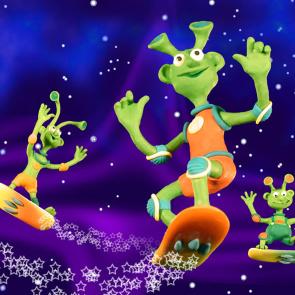 Návštěva z vesmíru! Přiletěli Marťánci i s marťabrouky!
